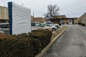 The sign at Jacksonville Savings Bank's Main Street location is covered ahead of an unveiling slated for next week.