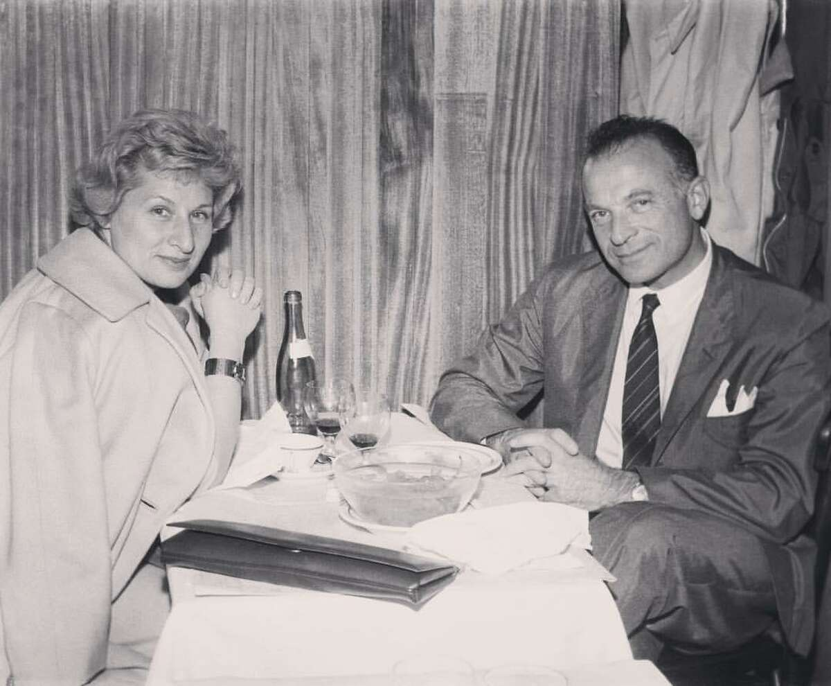 Two of the inspirations behind the book, the author's grandfather Eddy and his sister Halina, shared a birthday. Below,