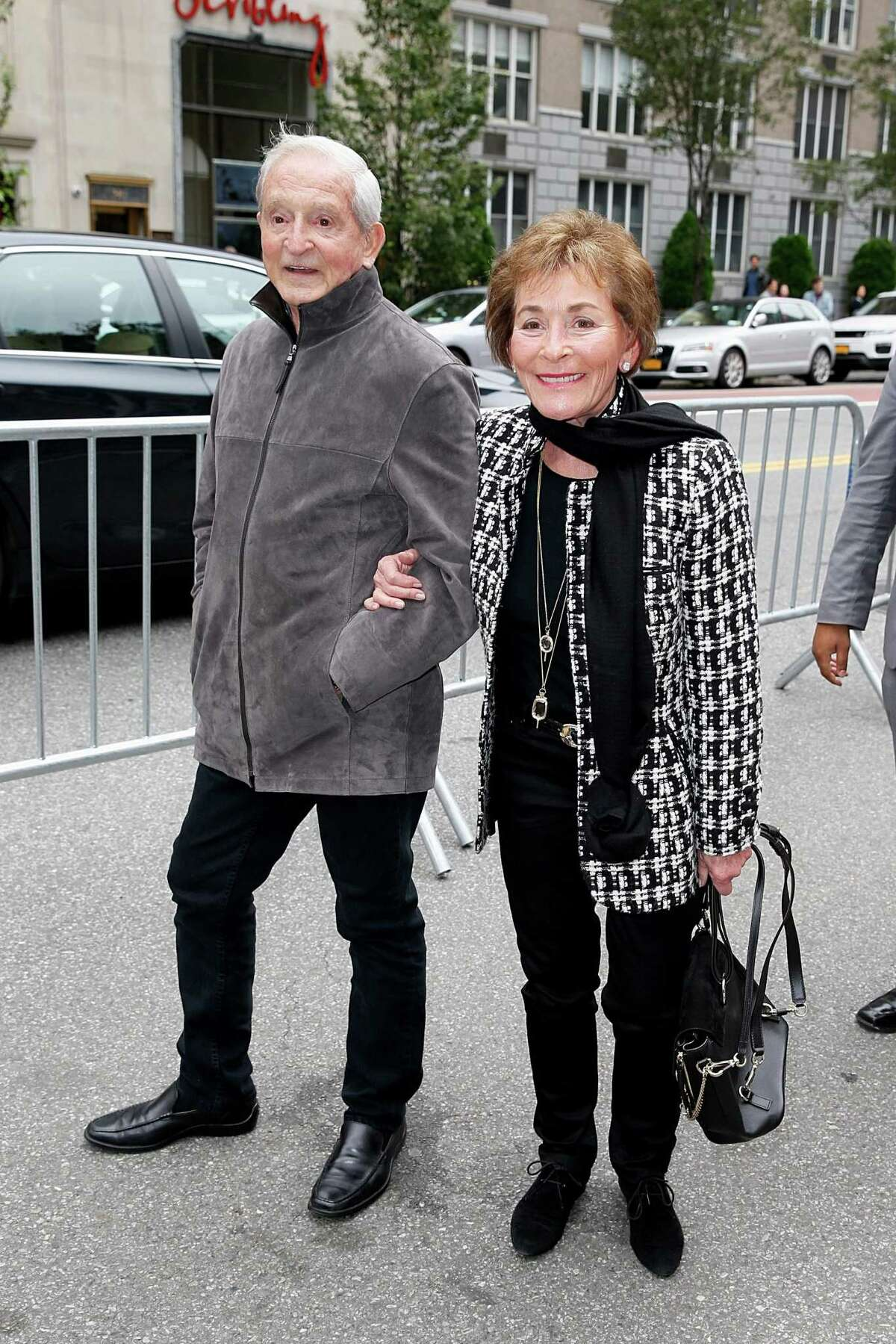 Judge Judy Sheindlin and husband Jerry Sheindlin are seen on October 14, 2018 in New York City.