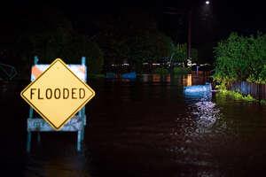 Several roads flooded in Novato on Thursday.