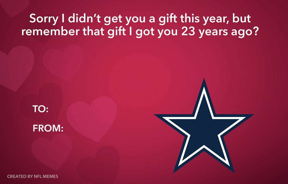 PHOTOS: Best Valentine's Day cards for the NFL fan in your life Source: Facebook.com/MEMES.of.the.NFL Photo: Facebook.com/MEMES.of.the.NFL
