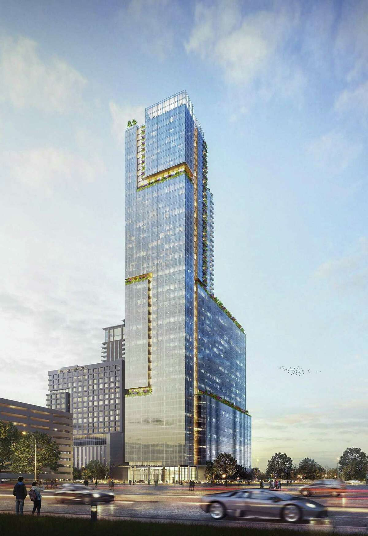 A rendering of the proposed mixed-use Innovation Tower in the med center.