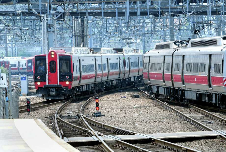 Metro North trains roll into Union Station in New Haven. Photo: File Photo