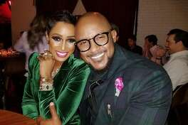 STYLISH COUPLES: Makeup artist Brandi Holmes and chef Don Bowie tied the knot last year.