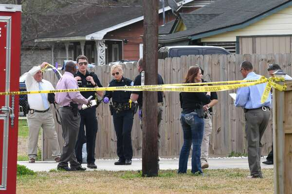 Beaumont Police investigate a shooting death of a woman on Pine Burr Road near Concord Road Thursday morning. The event is the first homicide of the year for the city. Photo taken Thursday, 2/14/19