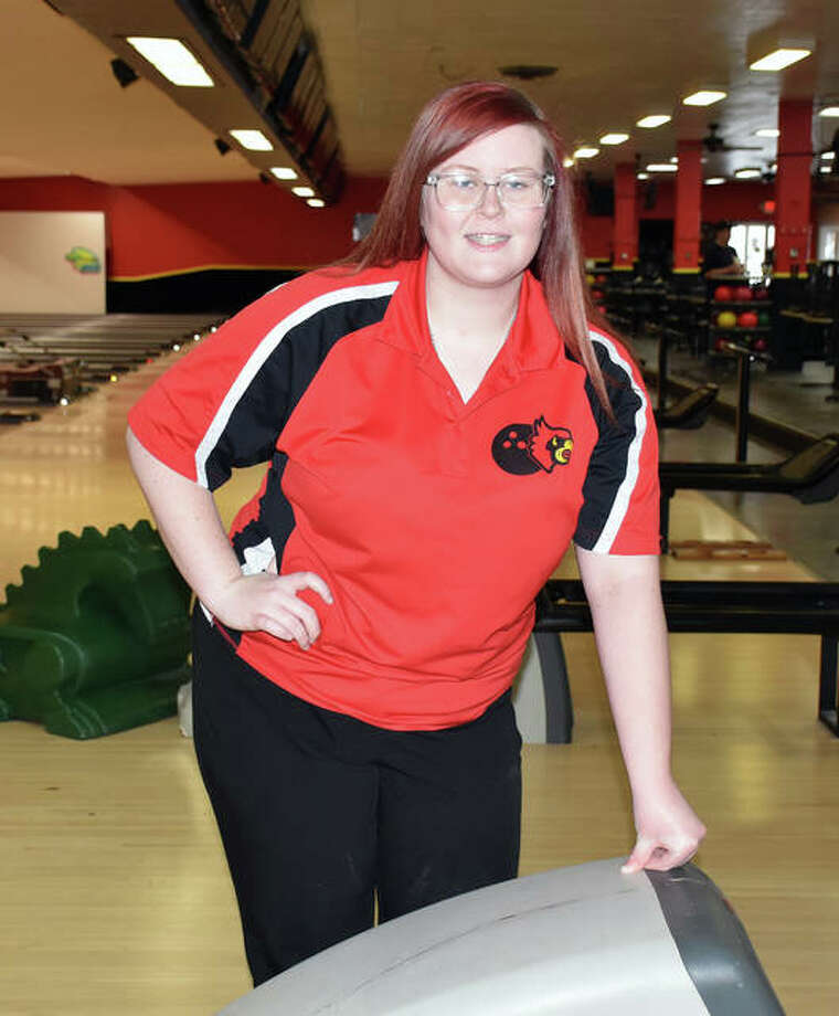 Alton senior Ashley Westbrook will bowl in Friday's first and second rounds of the IHSA Girls State Bowling Tournament at The Cherry Bowl in Rockford. Westbrook advanced to state as the top individual not on an advancing team at last week's Carterville Sectional. Photo: Submitted Photo