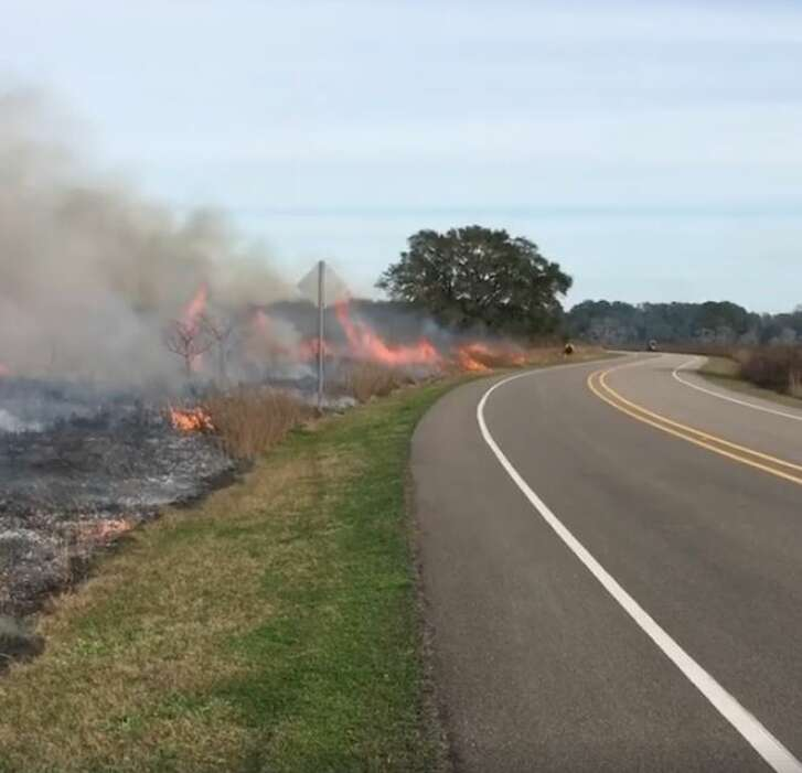 The fires seen coming from Brazos Bend State Park were part of a prescribed, controlled burn authorities with the park and other state officials conducted Wednesday.