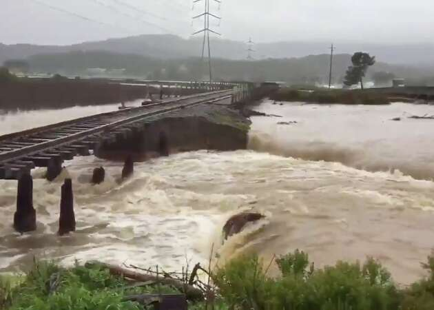 Levee breached near Highway 37 in Novato as rains pound North Bay
