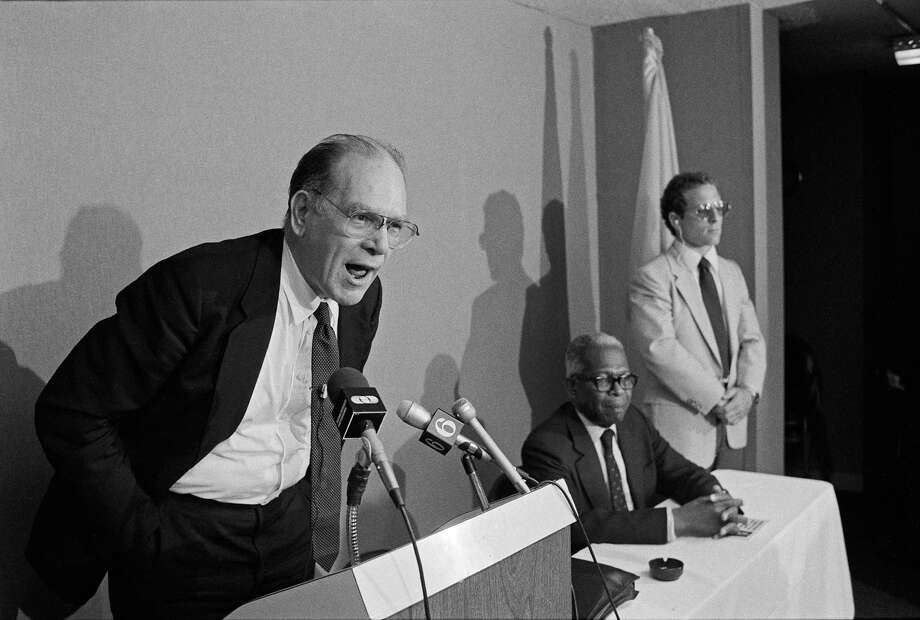 Lyndon LaRouche began his political career on the far left and ended it on the far right. Some called him a case study in paranoia and bigotry, his mild demeanor notwithstanding. Photo: William Sauro / New York Times / NYTNS