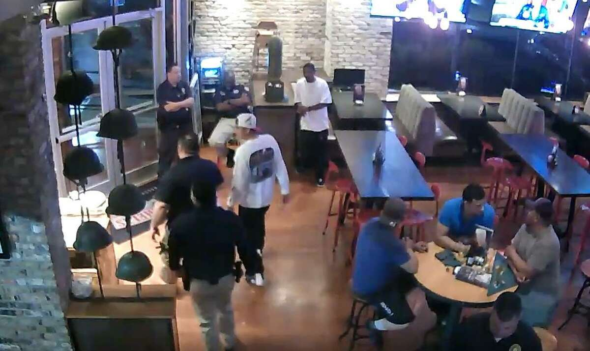 Agents with the Texas Alcoholic Beverage Commission leave Bombshells in southeast Houston with a man they've identified as having been served more drinks after he was clearly intoxicated. After watching a video, the judge disagreed. (PHOTO COURTESY STATE OFFICE OF ADMINISTRATIVE HEARINGS)