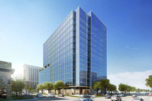 A rendering of the 15-story office building planned at 4200 Westheimer.