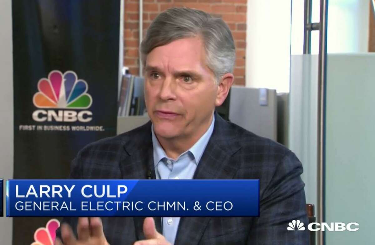 General Electric CEO Larry Culp Jr. in a November 2018 appearance on CNBC.