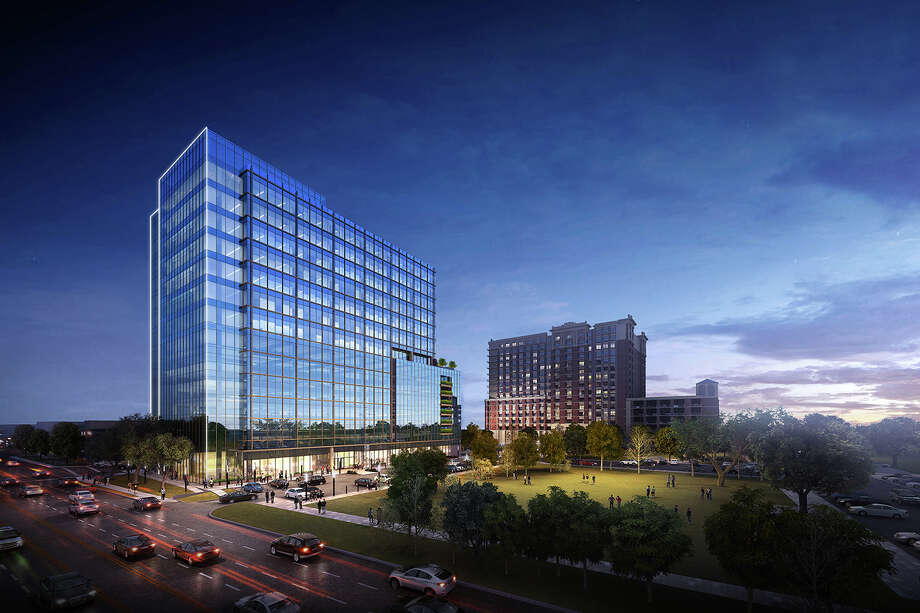 A rendering of the 15-story office building planned at 4200 Westheimer. Photo: Courtesy Of Stonelake Capital