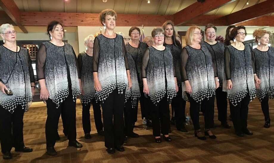 Lake Conroe Area Republican Women were entertained by members of The Woodlands Show Chorus at February's meeting which was held at Walden Yacht Club. Photo: Courtesy Photo