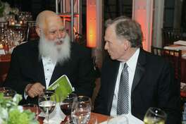 NEW YORK, NY - OCTOBER 17: Samuel Delany and Dick Cavett attend the Norman Mailer Center's Fifth Annual Benefit Gala sponsored by Van Cleef & Arpels on October 17, 2013 in New York City. (Photo by Brad Barket/Getty Images for The Norman Mailer Center)