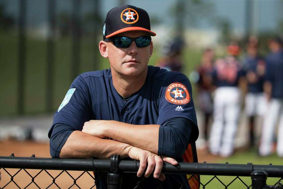 PHOTOS: Top prospects Houston Astros manager A.J. Hinch was suspended one game for outburst against umpire Angel Hernandez. Browse through the photos to see the Astros' top prospects ahead of the 2019 season. Photo: Yi-Chin Lee, Houston Chronicle / © 2019 Houston Chronicle