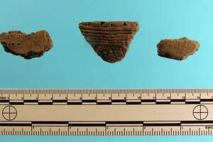 Pieces of Native American pottery found at the 500-year-old ruins of a Native American fort and settlement near the Walk Bridge construction site in Norwalk.