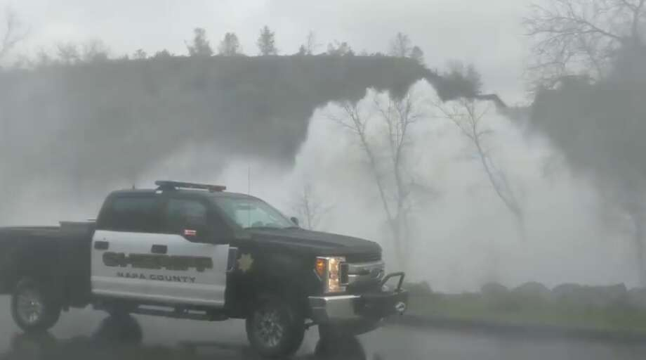 Video shows massive wall of water caused by Napa dam spillway: 'I think Lake Hennessey's full'