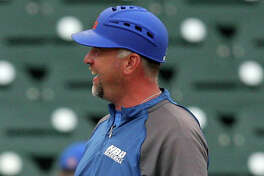 Houston Baptist coach Jared Moon during the Southland Conference tournament.