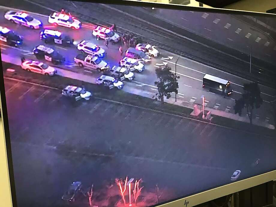 A gunman who took a UPS driver hostage inside his truck took police and sheriff's deputies on a chase, shot at officers and was in a standoff in San Jose on Thursday night, according to the Santa Clara County Sheriff's Office. Photo: Santa Clara County Sheriff's Office
