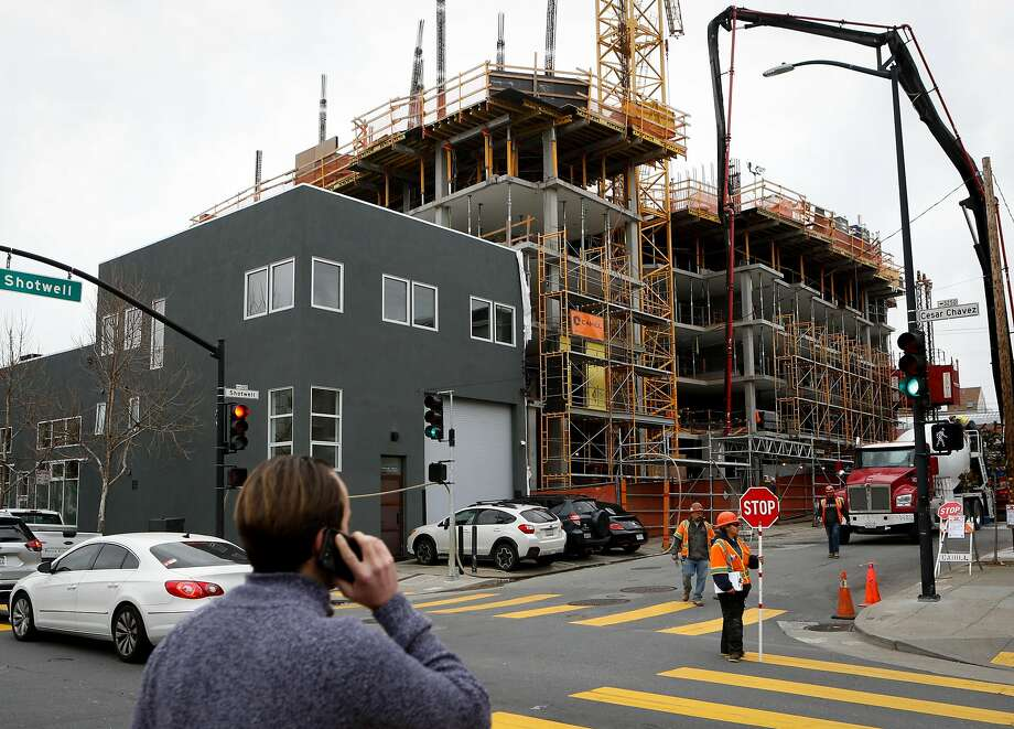 An affordable housing building currently under construction at Ceasar Chavez and Shotwell St. seen on Tuesday, February 12, 2019 in San Francisco, Calif. Photo: Amy Osborne, Special To The Chronicle