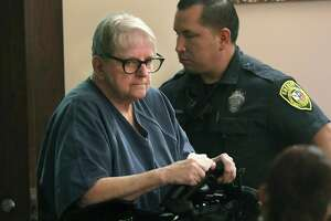 Convicted child killer Genene Jones, facing five new murder charges in San Antonio, made a court appearance on Feb. 14, 2019.