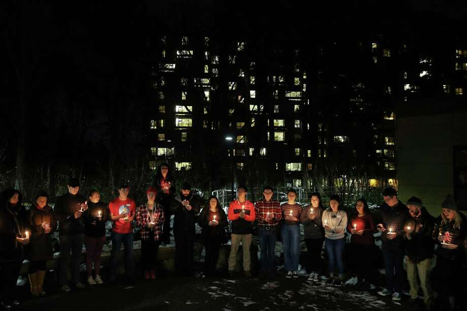 The student group First Nations, in collaboration with Indigenous Sisters Resistance and the ASUW Womaxn's Action Committee, hosted the 3rd annual Missing and Murdered Indigenous Woman's candlelight memorial vigil, Thursday, at wǝɫǝbʔaltxʷ Intellectual House on University of Washington campus, Feb. 14, 2019.  Over 100 attendees wore red, prayed and sang together, spoke about their loved ones who were missing or have been murdered and joined together to light candles and hold space for their absent loved ones. Photo: Genna Martin, Seattlepi.com / SeattlePI