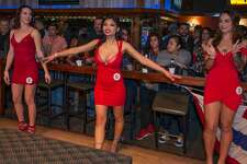 """Ladies wore their 'best' red dress for Wild West's """"little red dress contest' held on February 14, 2019."""