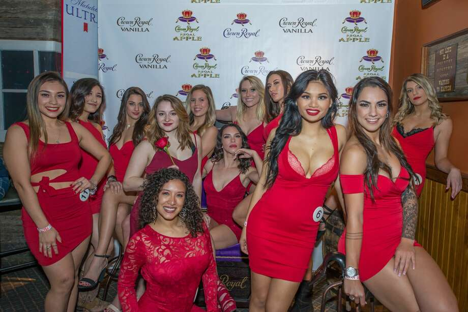 "Ladies wore their 'best' red dress for Wild West's ""little red dress contest' held on February 14, 2019. Photo: Kody Melton"