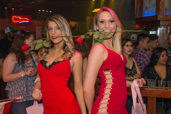 "Ladies wore their 'best' red dress for Wild West's ""little red dress contest' held on February 14, 2019."