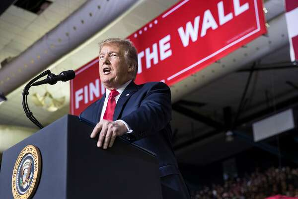 President Donald Trump speaks at a rally at the El Paso County Coliseum in El Paso, Texas, Feb. 11, 2019. When it comes to congressional end runs, lawmakers warn Trump that what goes around comes around. (Sarah Silbiger/The New York Times)