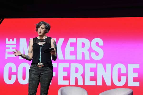DANA POINT, CA - FEBRUARY 07: Nadia Bolz Weber speaks onstage during The 2019 MAKERS Conference at Monarch Beach Resort on February 7, 2019 in Dana Point, California. (Photo by Vivien Killilea/Getty Images for MAKERS)
