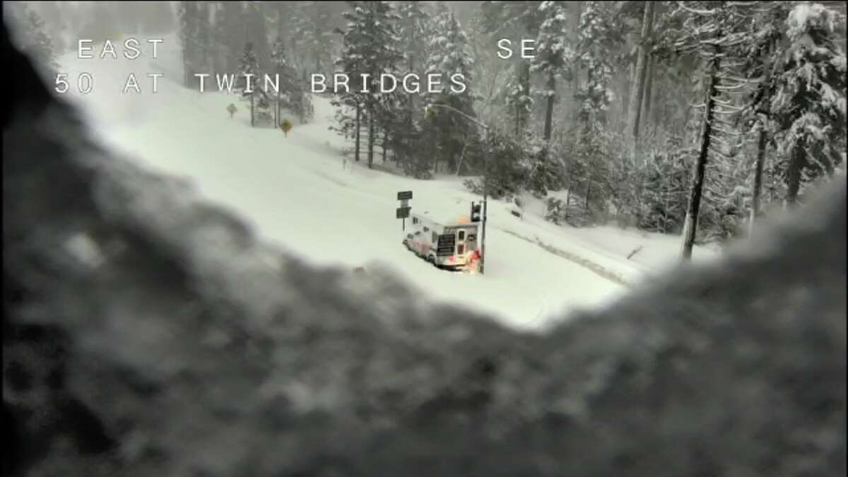 Highway 50 was closed at Twin Bridges because of concerns of an avalanche. A 70-mile stretch of Interstate 80 over the Sierra Nevada mountain range was closed Thursday night due to white-out conditions and the road remained closed Friday morning Feb. 15, 2019.