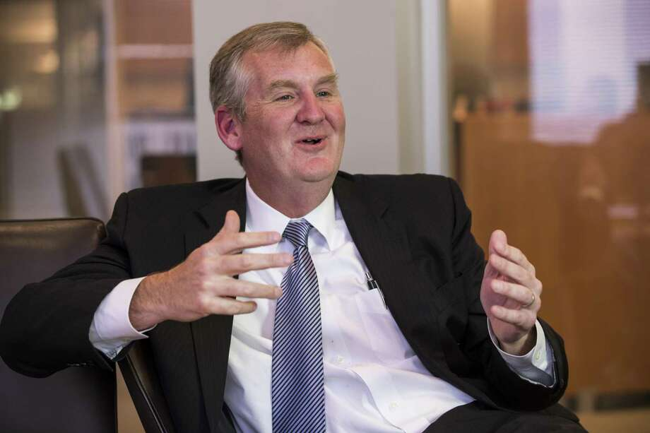 Thad Hill, president and CEO of Calpine Corporation, answers questions during an interview on Wednesday, Jan,. 30, 2019, in Houston. Hill became Calpine's top executive and a member of its Board of Directors in May 2014. Photo: Brett Coomer, Houston Chronicle / Staff Photographer / © 2019 Houston Chronicle