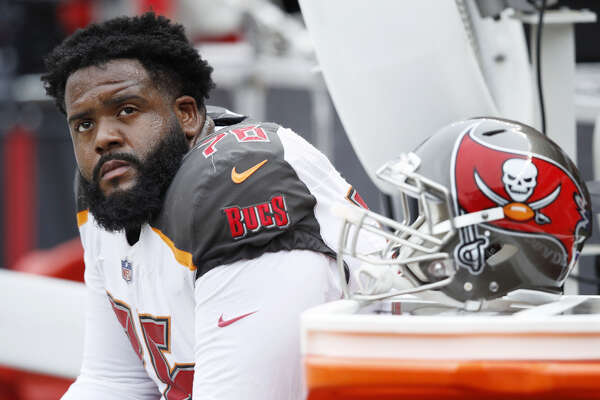 Tampa Bay tackle Donovan Smith is a free agent and has a history with Texans coach Bill O'Brien.