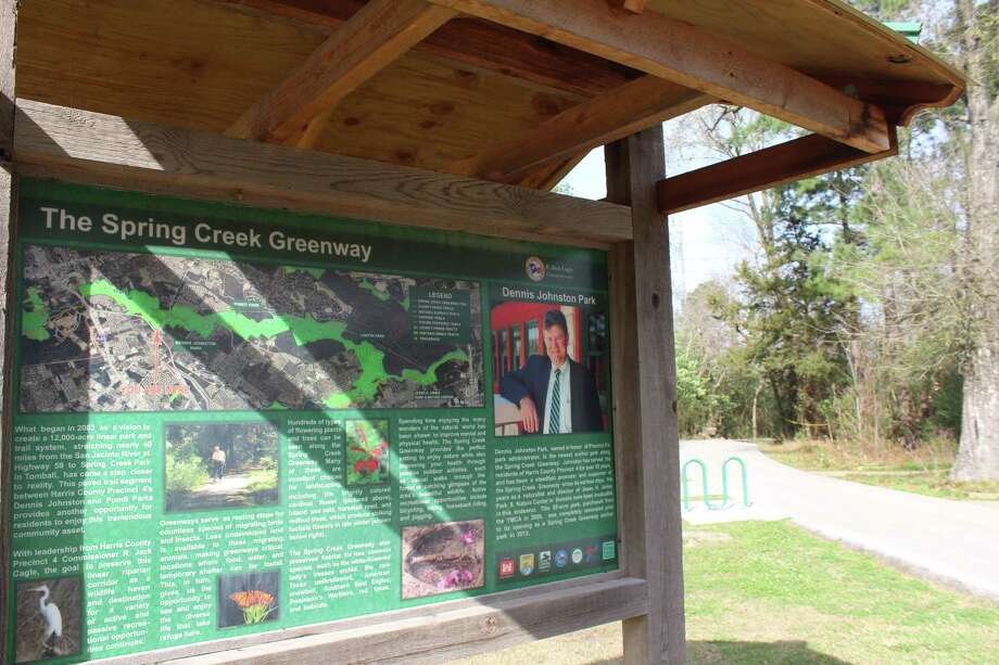 The Spring Creek Greenway connects Dennis Johnston Park in Spring to other Harris County Precinct 4 Parks along the trail system. Photo: Melanie Feuk