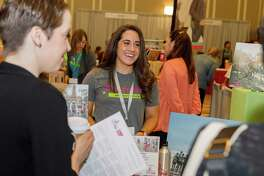Houston women are joining forces to raise funds for the Young Survival Coalition, which is a nonprofit that supports women diagnosed with breast cancer under the age of 40. Here,Amy Johansson (left) and Danielle Armour chat at last year's Summit 2018 event.
