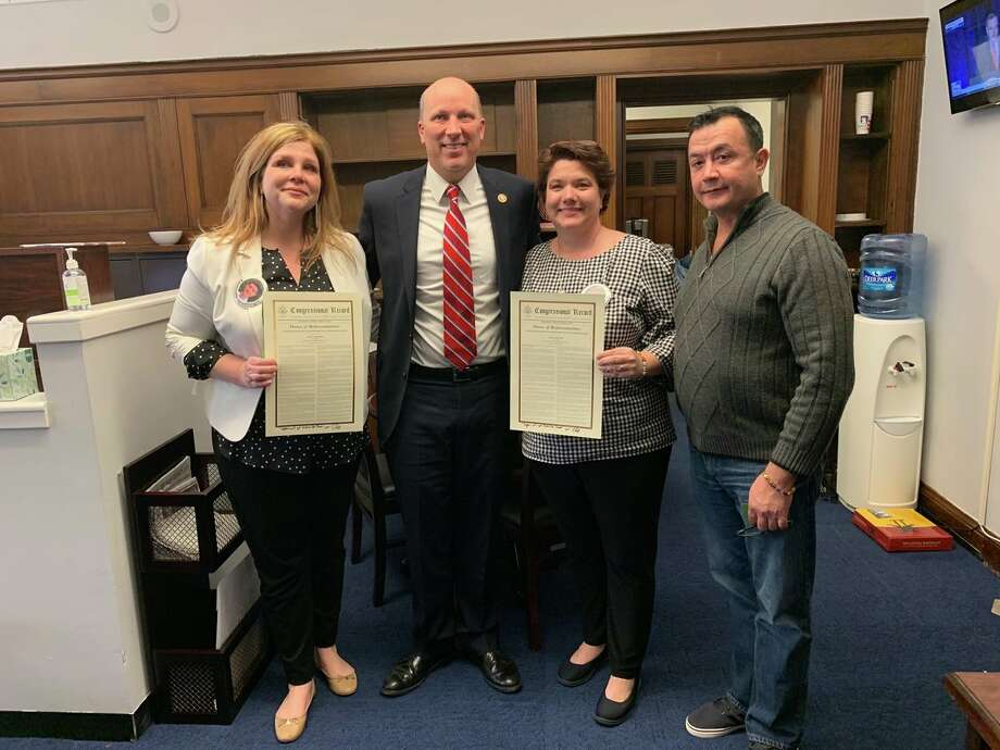 "The parents of the 20-year-old San Antonio student who was slain by an undocumented immigrant last year visited Representative Chip Roy at his D.C. office Thursday while attempting to meet with President Donald Trump as part of a delegation of ""angel families,"" families of people killed by undocumented immigrants. Photo: Office Of Representative Chip Roy"