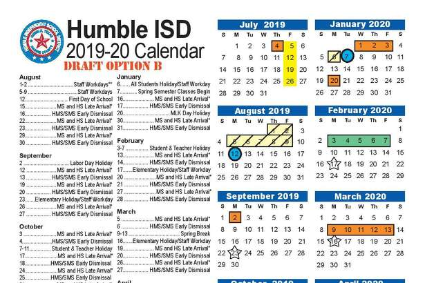 Humble ISD released a series of surveys starting in December 2018 to get input from parents and staff members as to what calendar option would work for the 2019-20 school year.