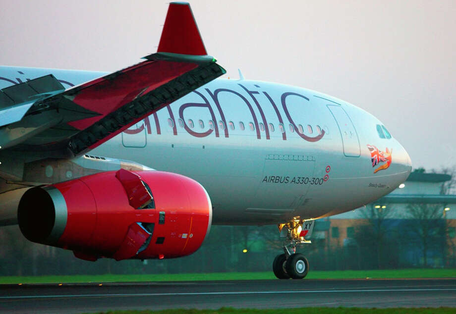 FILE-- Virgin Atlantic will use an A330-300 for new London Heathrow-Tel Aviv flights. A Virgin Atlantic flight from Los Angeles to London peaked at a whopping 801 mph Monday evening 35,000 feet over Pennsylvania. Photo: Virgin Atlantic