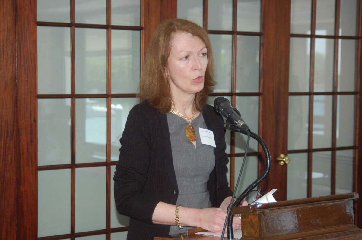 Mary Lee Kiernan, president and CEO of the YWCA Greenwich, which runs violence prevention education programs in schools throughout the community.
