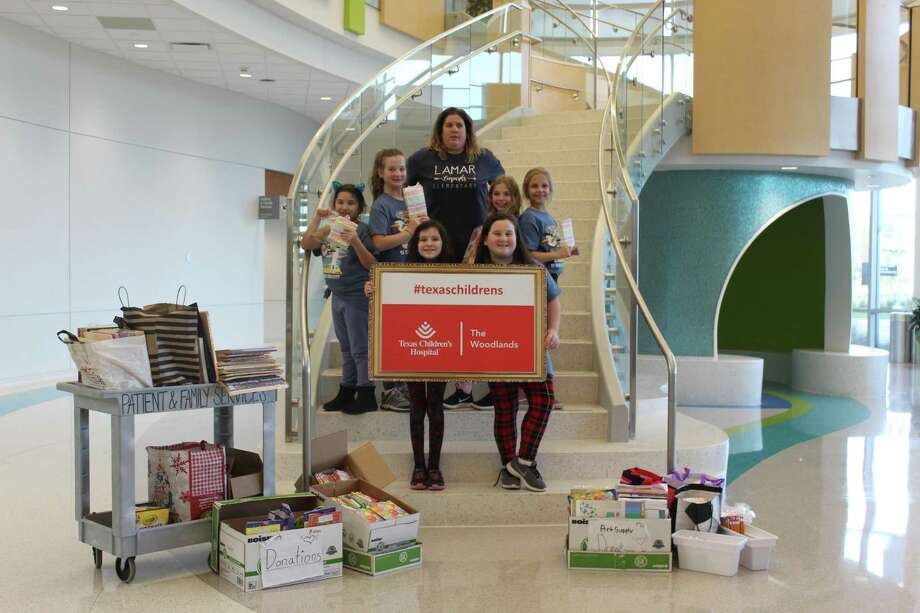 Thursday afternoon, six students from Lamar Elementary's Destination Imagination team presented their service project at Texas Children's Hospital The Woodlands. Photo: Jane Stueckemann / The Villager