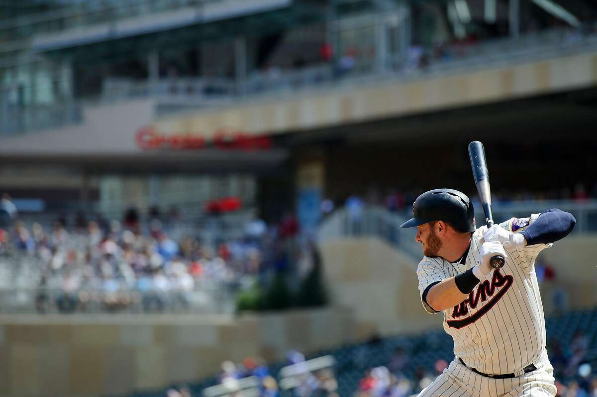 MINNEAPOLIS, MN - MAY 02: Robbie Grossman #36 of the Minnesota Twins takes an at bat against the Toronto Blue Jays during the game on May 2, 2018 at Target Field in Minneapolis, Minnesota. The Twins defeated the Blue Jays 4-0. ~~