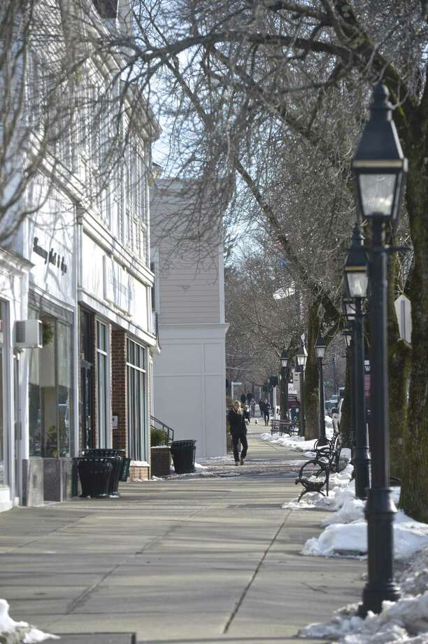 Storefronts in downtown Ridgefield, Conn, Thursday, February 14, 2019. Photo: H John Voorhees III / Hearst Connecticut Media / The News-Times