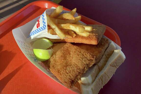 Fish and french fries is the most popular order at Fred's Fish Fry at 6323 Pearsall Road.
