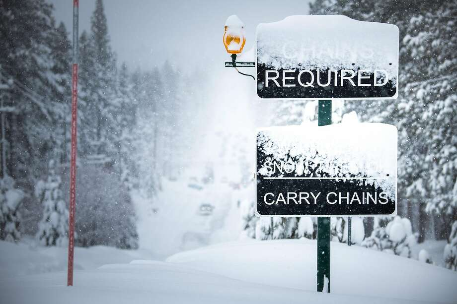 Snow impacts the city of South Lake Tahoe, California on February 15th, 2019. On Monday, an avalanche dumped a huge amount of snow onto Highway 50 just south of Lake Tahoe around noon Monday, shutting down the roadway in both directions for at least the rest of the day, officials said. Photo: AJ Marino / Novus Select / Special To The Chronicle