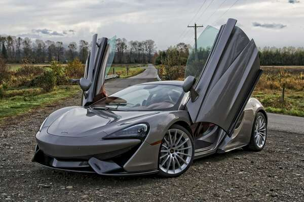 The McLaren 570S, which starts around $195,000, is a two-seat twin-turbo V8-powered mid-engine British supercar.
