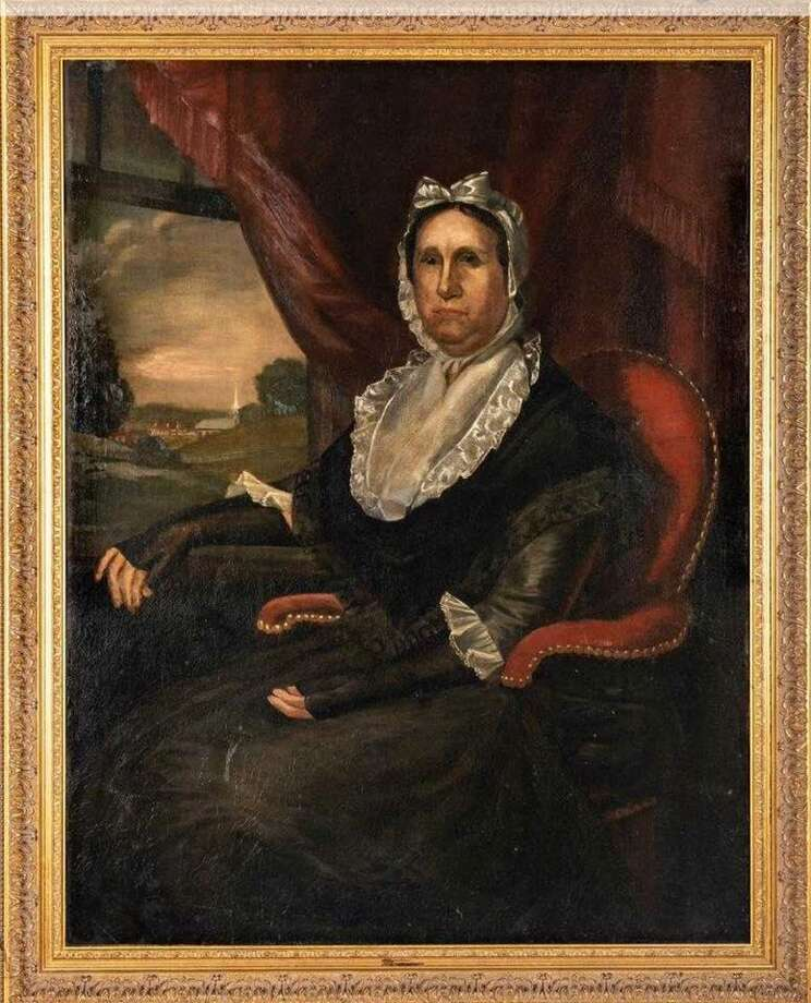 The New Milford Historical Society and Museum purchased an oil painting of Tamar Boardman Taylor, a prominent former resident in an online auction. Photo: Contributed Photo / The New Milford Historical Society And Museum Facebook Page