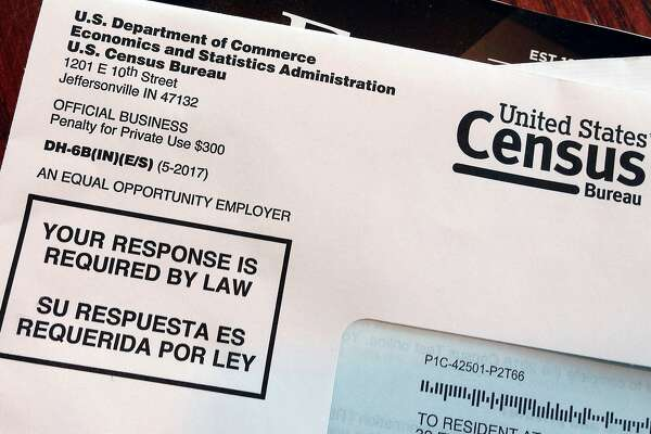 FILE - This March 23, 2018, file photo shows an envelope containing a 2018 census letter mailed to a U.S. resident as part of the nation's only test run of the 2020 Census. The Supreme Court will decide whether the 2020 census can include a question about citizenship that could affect the allocation of seats in the House of Representatives and the distribution of billions of dollars in federal money.(AP Photo/Michelle R. Smith, File)