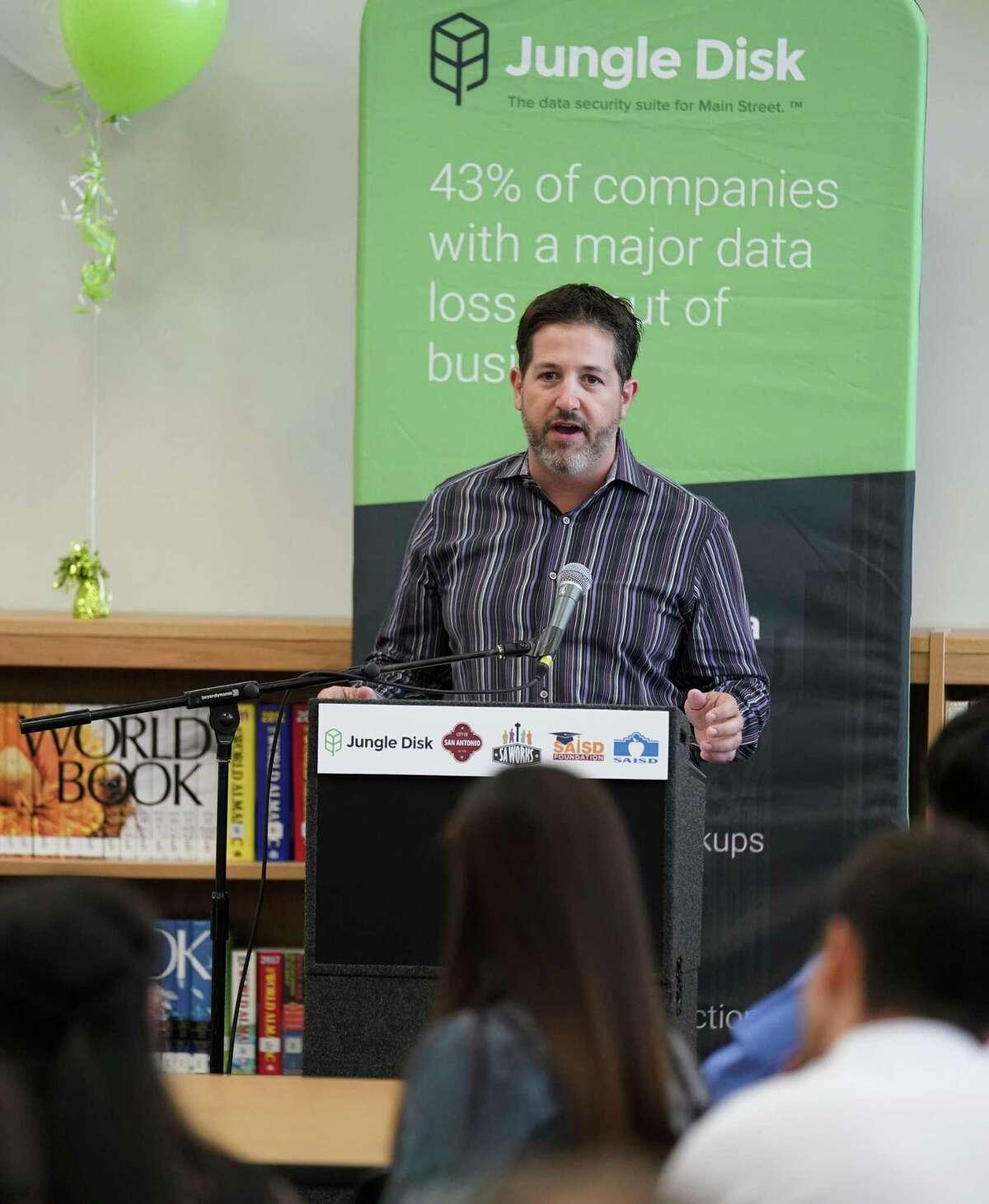 San Antonio has been creating more cybersecurity jobs. Jungle Disk CEO Bret Piatt speaks to interns in the field.